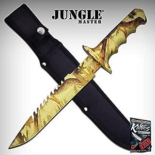 FIXED BLADE Elite Knife Jungle Master Camo Tan Survival Hunting Sheath EDC JM-005CA + free eBook by ProTactical'US