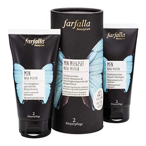 Farfalla Men Rosa Pfeffer - Pflegeset Dusch-Shampoo & Körperlotion