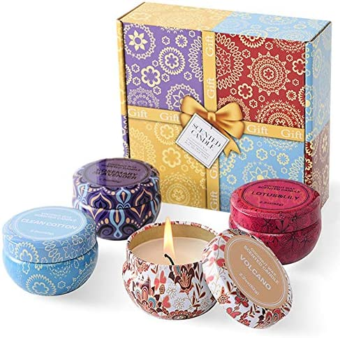 Scented Candles Gift Set for Women 2 2oz x 4 Pack Tin Candles for Aromatherapy Bath Relaxation product image