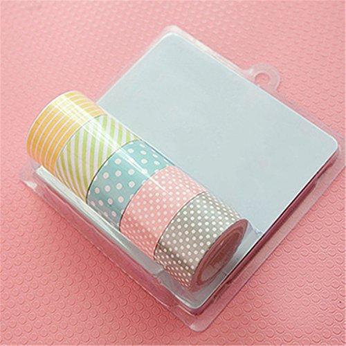 Display085Rollen Polka Dot gestreift, mit Deko-Papier Washi Masking Tape large
