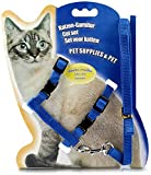 ICSEN Cat Harness, Adjustable Harness Nylon Strap Collar with Leash, Cat Leash and Harness...