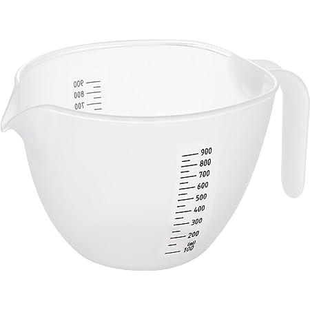 曙産業 粉つぎ 白 日本製 液垂れしにくく注ぎやすい 目盛付き 調理用ボウルとしても使いやすい 粉モノ研究会 キレが良い粉つぎボウル CH-2091 容量:1l