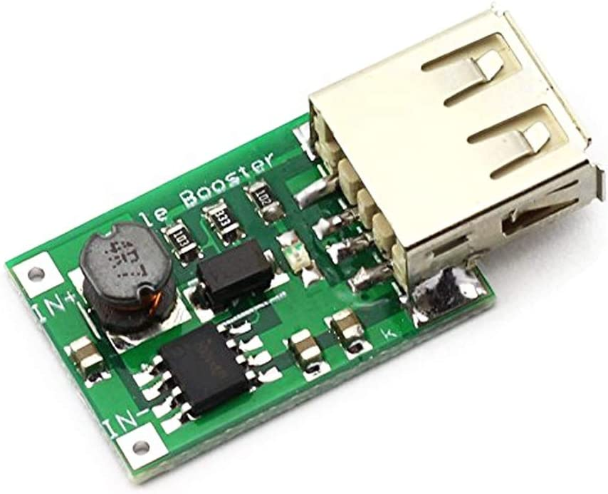 Stayhome 1pcs 2V-5V to 5V 1200MA USB Output Boost Converter Mini DC-DC Step-up Power Module Lithium Battery Charger Board for Phone Camera