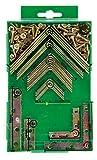 GAH-Alberts 332747 - Lote de escuadras y chapas de juntura (acero galvanizado en amarillo)