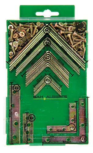 GAH-Alberts 332747 Winkel und Verbindungsbleche Sortimentsbox | galvanisch gelb verzinkt