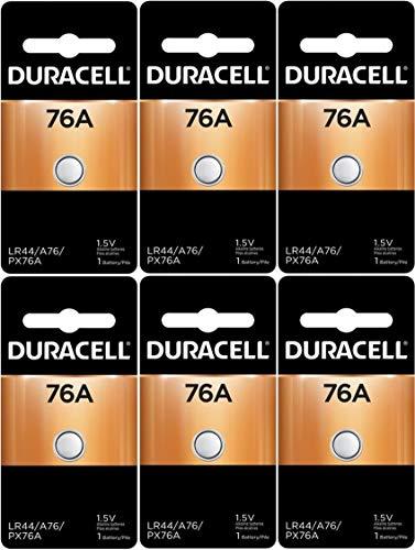 Duracell LR44 Duralock 1.5V Button Cell Battery, (6 Count)