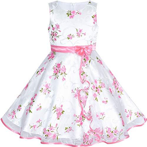 Mädchen Kleid 3 Schichten Sonnenblume Welle Festzug Brautjungfer Festliche Kinderkleider Gr. 98-104