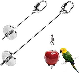 Pájaros para Verduras Comedero, 2 Piezas Pincho Loro, Titular Fruta Pájaro, Juguete Comedero para Pájaros, para Accesorios...
