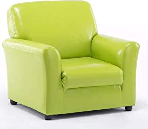 Kids Sofa Storage Children Armchair Single Seater Seat Childrens Mini Sofa Boys Girls Lounger Couch Padded Chair Furniture Home Indoor ES0925  Color Green