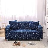 ASCV Funda de sofá elástica para sillón Funda de sofá de poliéster Ultrafina para Sala de Estar Funda de sofá Universal A7 3 plazas