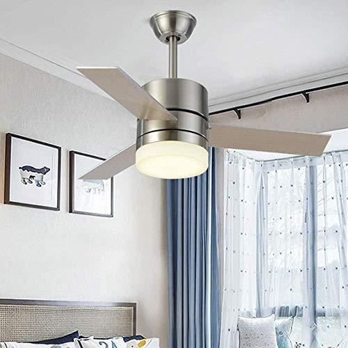 MKKM Candelabro, Lámparas de Techo Luces de Ventilador Simples Sala de Estar Moderna Restaurante Dormitorio Silencio Remoto Candelabros para el Hogar Ventilador 36 Pulgadas Decoración