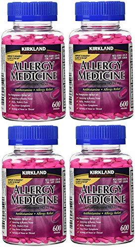 Kirkland Signature Allergy Medicine Diphenhydramine HCI 25 mg - 600 Minitabs - 4 Pack