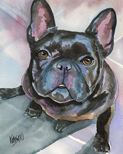 "French Bulldog Art Print | Frenchie Gifts | From Original Painting by Ron Krajewski | Hand Signed in 8x10"" and 11x14"" Sizes"