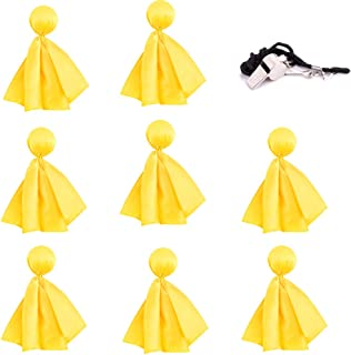WXJ13 8 Pieces Football Penalty Flag Penalty Flag Accessory Tossing Flags Sports Fan Flags