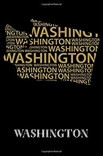 """Washington: Writing Journal to Write In, Lined Notebook, State of Washington Map Design Themed Gift, Blank Book, 6"""" x 9"""", 128 pages"""