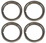 Set of 4 Chrome Plated ABS Plastic 13' Universal 1.75 inch Beauty Trim Rings 13P