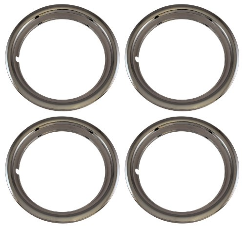 Set of 4 Chrome Plated ABS Plastic 13