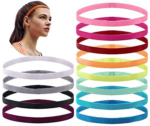 12 bandas elásticas antideslizantes para el pelo para entrenar, yoga, correr, deportes, accesorios para el pelo para mujeres