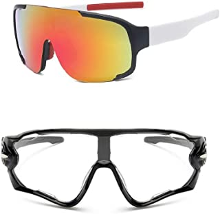 Kit Óculos Ciclismo Masculino Feminino UV400 + Transparente