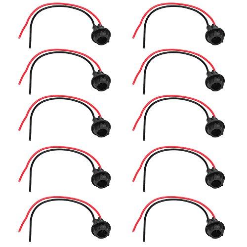 zócalo de lámpara h7 T10, 10 piezas enchufe de bombilla LED T10 para coche enchufe de coche adaptador de portalámparas para faros antiniebla piezas de repuesto de luces pequeñas