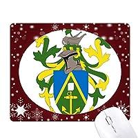 ピトケアン諸島オセアニア国章 オフィス用雪ゴムマウスパッド