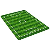 Anniup - Tappeto da calcio per bambini, tappeto da calcio per bambini, antiscivolo, 50 x 81 cm