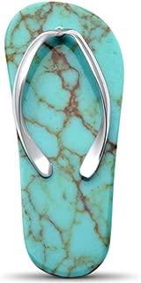 Best turquoise stone flip flops Reviews