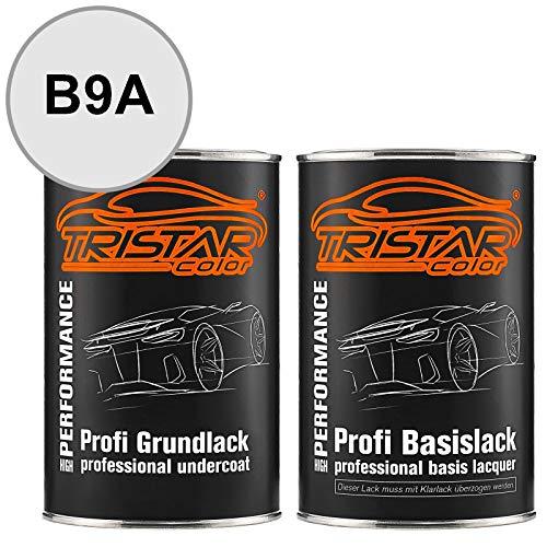 TRISTARcolor Autolack Set Dose spritzfertig für VW/Volkswagen B9A Candyweiss Grundlack + Basislack 2,0 Liter 2000ml