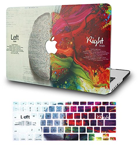 "KECC Laptop Case for MacBook Air 11"" w/Keyboard Cover Plastic Hard Shell Case A1465/A1370 2 in 1 Bundle (Brain)"