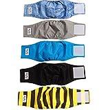 JoyDaog Wiederverwendbare Bauchbänder für Hunde, (5er Pack) Premium waschbare Windeln für Hunde, Wickel für männliche Welpen, XS