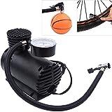 EG ENTERPRISE Electric 12 v Air Pump Compressor for Car and Bike (Black)