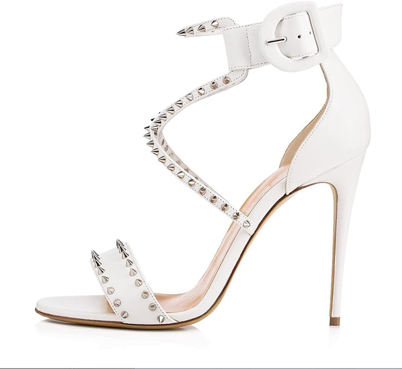 Ms. Extreme High Fashion Peek shoes Handmade Sandals Wedding Bride High Heels Evening Dress Slim Foot Slip On shoesXIAOQI
