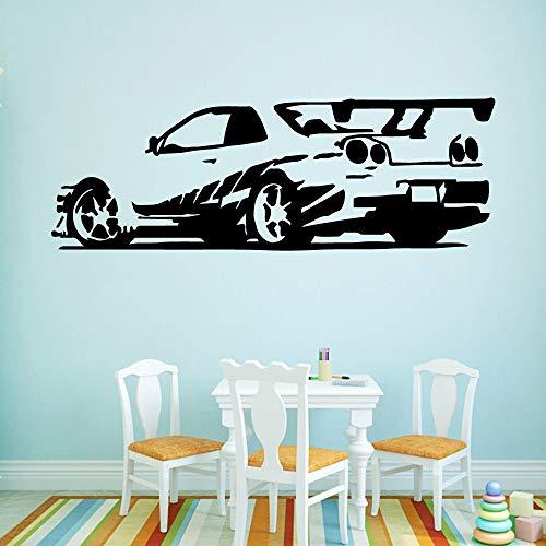yaonuli Voiture Vinyle Autocollant Mural décoration Vinyle Chambre décoration garçon Chambre décoration 54x156 cm