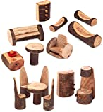 Magic Cabin Rustic Tree Block Furniture Collection, 15 Pieces