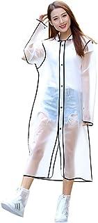 透明レインコート VICOODA ポンチョ 防水 EVA材質 雨具 雨合羽 男女兼用 通学 通勤 軽量 携帯便利