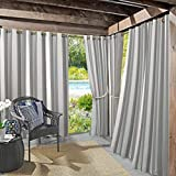 Sun Zero 53085 Valencia UV Protectant Indoor Outdoor Curtain Panel, 54' x 84', Gray