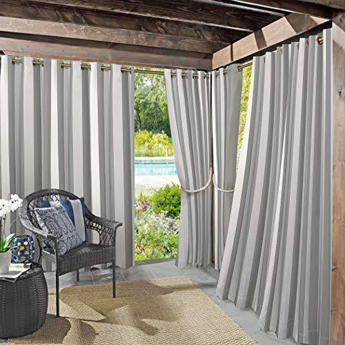 "Sun Zero 53085 Valencia UV Protectant Indoor Outdoor Curtain Panel, 54"" x 84"", Gray"