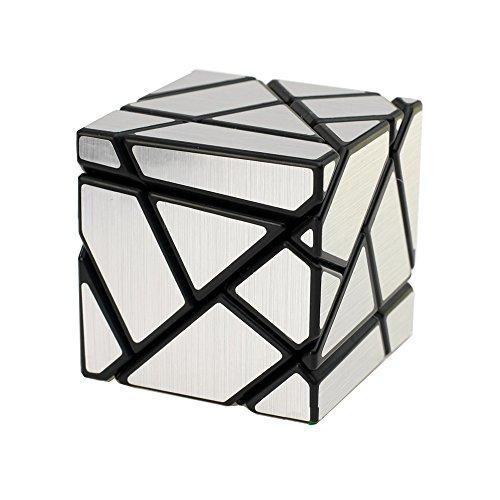 Wings of wind - DIY Nueva Etiqueta Velocidad Cubo mágico, 3x3x3 Ghost Puzzle Cube (Negro-Plata)