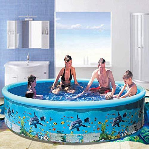 TTYUIO Aufblasbarer Pool, Swim Center Family Swimmingpool, Faltbarer Blow Up Pool Für Gartengarten Im Freien, Planschbecken Für Kinder Babys Kleinkinder Erwachsene (244 * 38cm