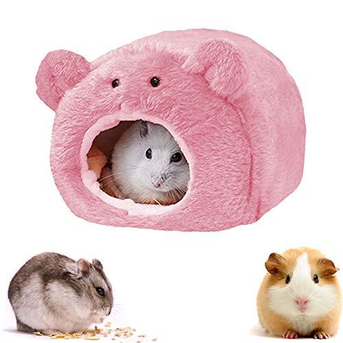 Shengruili Kleintierbett Hamster,Kleine Tier Haus Nest,Warm Plüsch Kuschelhöhle,Kleintierbett,Hamsternest,Hamster Bett,Haustier Bett,Kleintierhaus