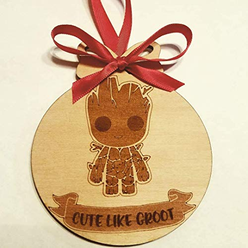 Baby Groot Ornament, Guardians of the Galaxy Ornament, Marvel Ornament, Christmas Ornament - Customizable!