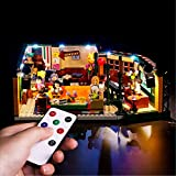 【New Version】 Remote Control Led Lighting Kit for (Friends Central Perk) Building Blocks Model-Light Set Compatible with Lego 21319 (NOT Included The Lego Sets)