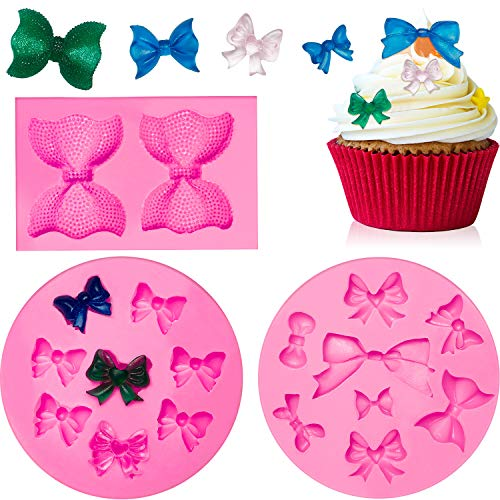 3 Pieces Silicone Mini Bow Mold