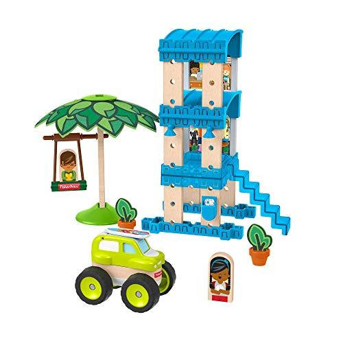Fisher-Price Wonder Makers Bungalow en la playa, juguetes construcción niños +3 años (Mattel GFJ13) , color/modelo surtido