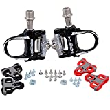 Wellgo Ultralight Road Bike Clipless Pedals Three Bearing Magnesium Alloy Self-Locking Cycling Pedal Two Pairs...