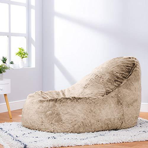 Icon Traum Liege Sitzsack - 110cm x 80cm, Riesiges Sitzsack-Tagesbett aus Kunstfell - 4