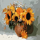 """Paint by Numbers for Adults, DIY CanvasOilPainting KitAcrylic Painting Kit for Kids &Adults Flowers Pattern with 3 Brushes and Acrylic Pigment16"""" x 20"""""""