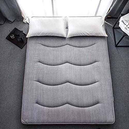 ZLJ Colchón de Cama Plegable colchón de Tatami Plegable Colchón de Camping portátil Dormitorio de Estudiantes Colchón de futón Gris 90x200cm (35x79inch)