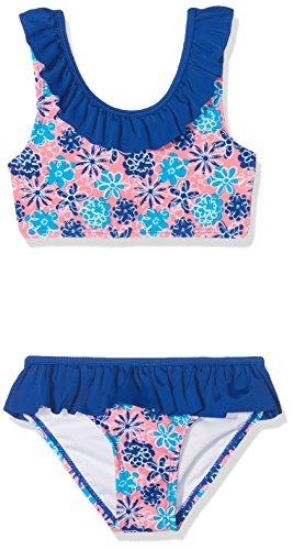 Playshoes Mädchen UV-Schutz Bikini Veilchen Zweiteiler, Mehrfarbig (LACHS 41), 98 (Herstellergröße: 98/104)