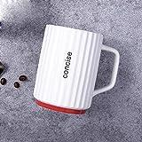 Tazza personalizzata tazza colazione grande tazza termica tazza caffe -Tazza a strisce rosse Regali per Festa Della Mamma SanValentino Compleanno Natale Anniversario